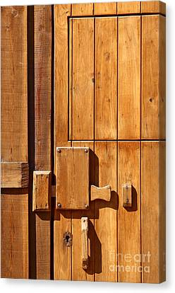 Wooden Door Detail Canvas Print