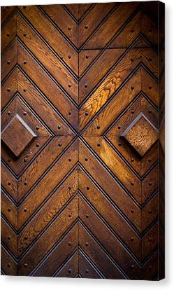 Medieval Entrance Canvas Print - Wooden Doors by Pati Photography