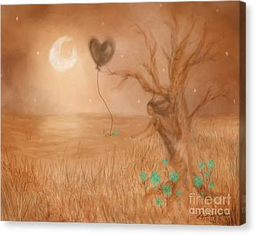 Wooden Fairy Canvas Print by Audrey Wilkie