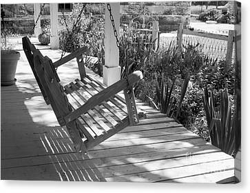 Wooden Front Porch Swing Canvas Print