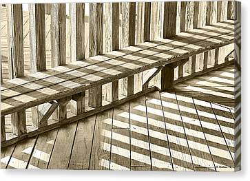 Wooden Lines - Semi Abstract Canvas Print by Brian Wallace