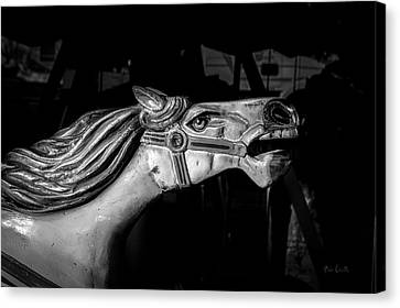 Amusements Canvas Print - Wooden Pony by Bob Orsillo
