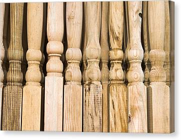 Wooden Posts Canvas Print by Tom Gowanlock