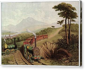 Wooden-railed Railway Canvas Print by Cci Archives