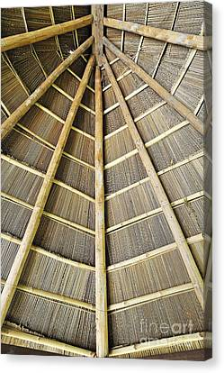 Wooden Roof Canvas Print by Sami Sarkis
