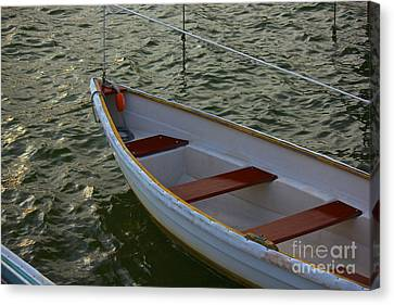Wooden Skiff Canvas Print by Amazing Jules