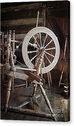 Wooden Spinning Wheel Canvas Print
