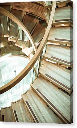 Wooden Staircase Canvas Print by Tom Gowanlock