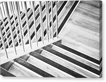 Fire Escape Canvas Print - Wooden Stairs by Tom Gowanlock
