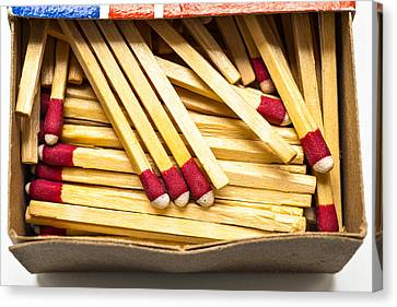 Wooden Stick Matches In Box Canvas Print