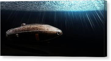 Wooden Submarine Ictineo II Dv Canvas Print by Weston Westmoreland