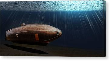 Wooden Submarine Ictineo II Lv Canvas Print by Weston Westmoreland