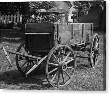 Canvas Print featuring the photograph Wooden Wagon by Robert Hebert
