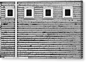 Drain Canvas Print - Wooden Wall by Tom Gowanlock
