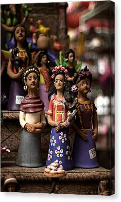 Canvas Print featuring the photograph Wooden Women Of South America by Dave Garner