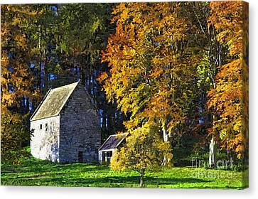 Woodhouses Bastle Northumberland - Photo Art Canvas Print by Les Bell