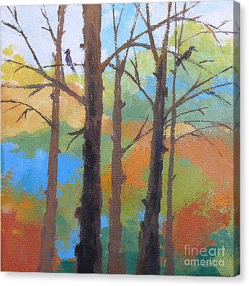 Woodland #4 Canvas Print by Melody Cleary