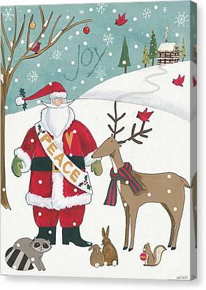 Woodland Christmas Vii Canvas Print by Anne Tavoletti