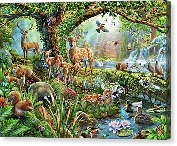 Woodland Creatures Canvas Print