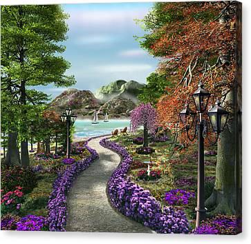 Garden Dor Canvas Print - Woodland Path by Caplyn Dor