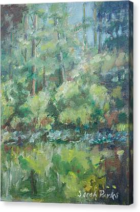 Woodland Pond Canvas Print by Sarah Parks