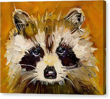 Woodland Racoon Canvas Print