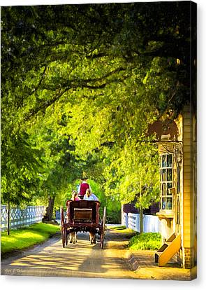 Woodland Ride - Colonial Williamsburg Canvas Print by Mark E Tisdale