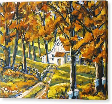 Woodland Sugar Shack By Prankearts Canvas Print by Richard T Pranke