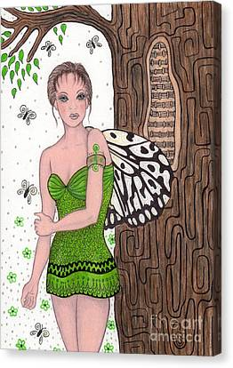 Woodland Tree Nymph Fairy Canvas Print