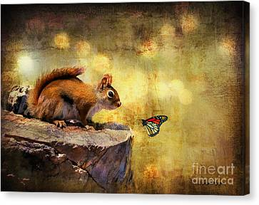 Squirrel Canvas Print - Woodland Wonder by Lois Bryan