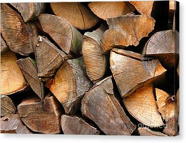 Woodpile Canvas Print - Woodpiles by Michal Bednarek