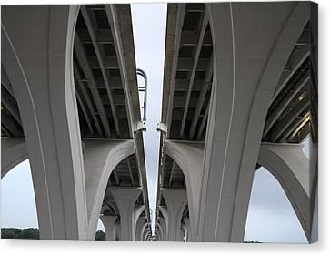 Arch Canvas Print - Woodrow Wilson Bridge - Washington Dc - 01132 by DC Photographer