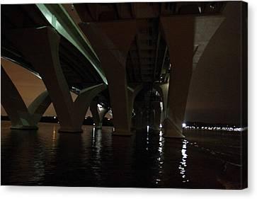 Woodrow Wilson Bridge - Washington Dc - 011329 Canvas Print by DC Photographer