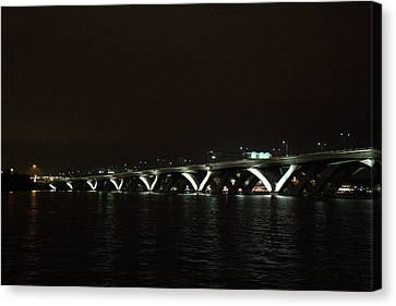 Woodrow Wilson Bridge - Washington Dc - 011339 Canvas Print by DC Photographer