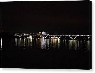 Wilson Canvas Print - Woodrow Wilson Bridge - Washington Dc - 011343 by DC Photographer