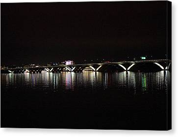 Woodrow Wilson Bridge - Washington Dc - 011344 Canvas Print by DC Photographer
