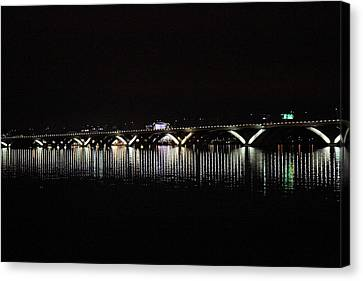 Woodrow Wilson Bridge - Washington Dc - 011345 Canvas Print by DC Photographer