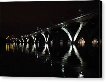 Wilson Canvas Print - Woodrow Wilson Bridge - Washington Dc - 011356 by DC Photographer