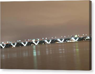 Woodrow Wilson Bridge - Washington Dc - 01136 Canvas Print by DC Photographer