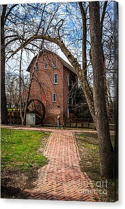 Wood's Grist Mill In Hobart Indiana Canvas Print by Paul Velgos