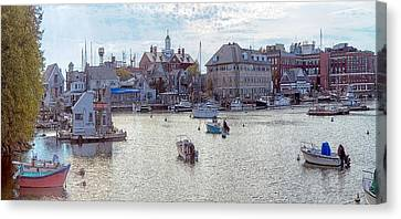 Canvas Print featuring the photograph Woods Hole Harbor by Constantine Gregory
