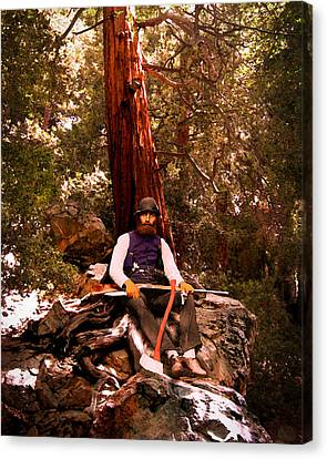 Canvas Print featuring the photograph Woodsman by Timothy Bulone