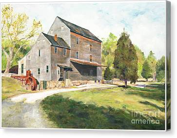 Feed Mill Canvas Print - Woodsons Mill by J Luis Lozano