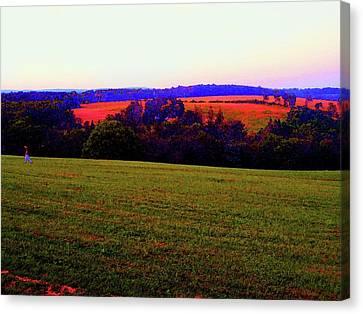 Woodstock - Farm - Yasgurs Canvas Print