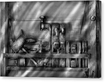 Woodworker - Wood Working Tools Canvas Print by Mike Savad