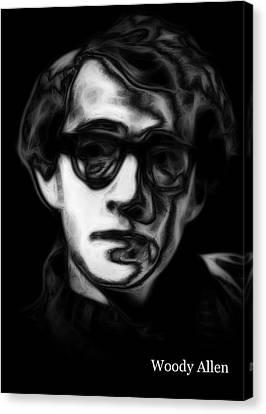 Woody Allen Canvas Print - Woody Allen 2 by Steve K
