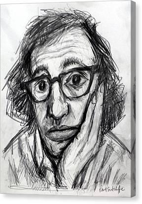 Woody Allen Canvas Print by Paul Sutcliffe