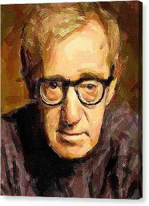 Woody Allen Canvas Print - Woody Allen by Yury Malkov
