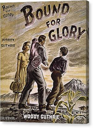 Woody Guthrie: Glory, 1943 Canvas Print by Granger
