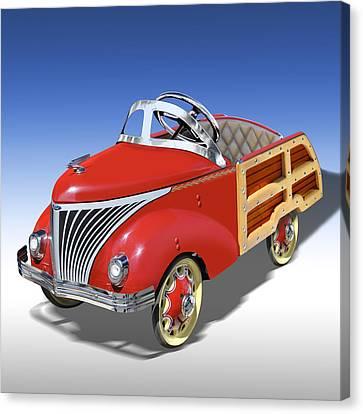 Woody Peddle Car Canvas Print by Mike McGlothlen